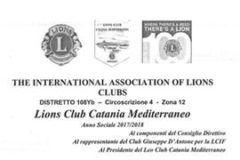 Sabato 4 Novembre – The International Association of Lions Clubs