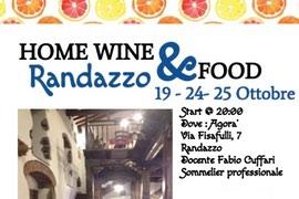 Home Wine & Food – Randazzo – 19 – 24 – 25 Ottobre 2017